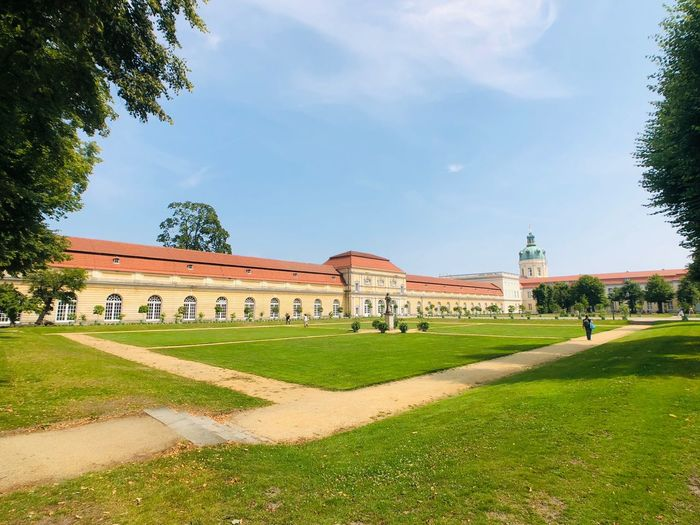 Charlottenburg Plant Sky Built Structure Tree Architecture Grass Building Exterior Nature Travel Destinations Growth No People Green Color The Past Garden Lawn Outdoors Travel Day Cloud - Sky History