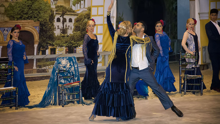Adult Art Art Flamenco Dance Flamenco Large Group Of People Sevilla Spain Show Turism