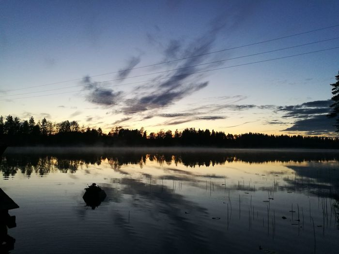 Juhannus night in Finland 👌 Reflection Lake Water Cloud - Sky Nature Sky Sunset No People Scenics Autumn Outdoors Tranquility Beauty In Nature Multi Colored Tree Day Finnish  Photographer Finnishboy Finland Juhannus Summer Summernight