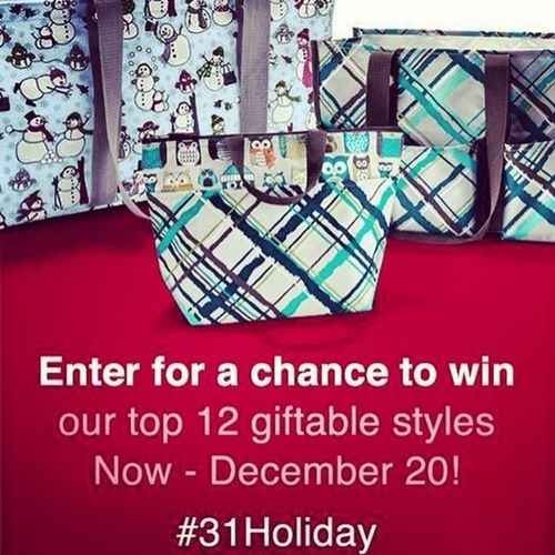 Enter on my website to win a bag from thirty one! www.mythirtyone.com/dawncummings. Good luck. No obligations.