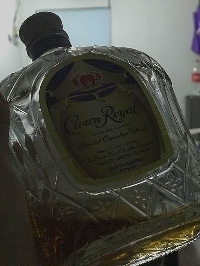 Keep Calm and Put Your Crown On Liquorinaglass Liquor Bottles Liquor Photography Crown Royal Indoors  Close-up Glass - Material Reflection
