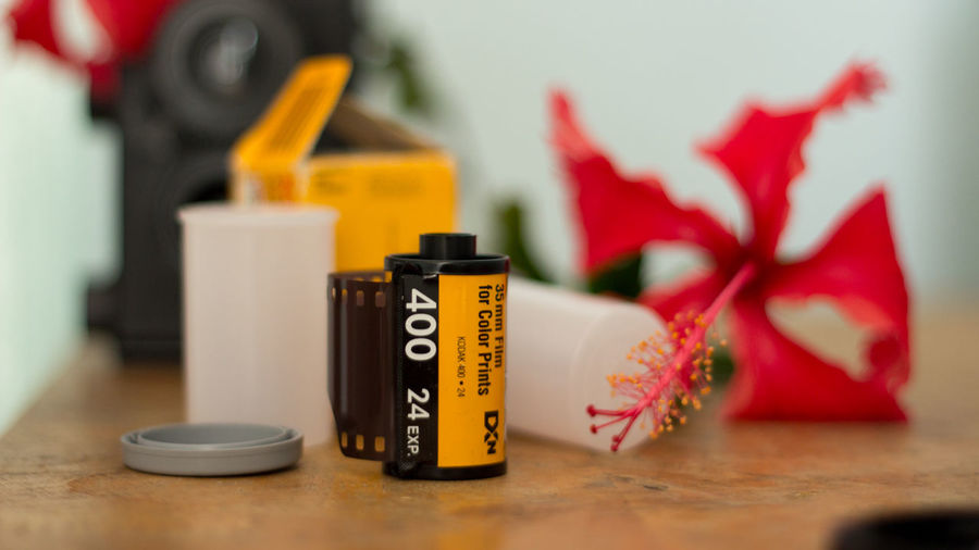 400 Close-up Container Film Film 35 Film24mm ISO400 Selective Focus
