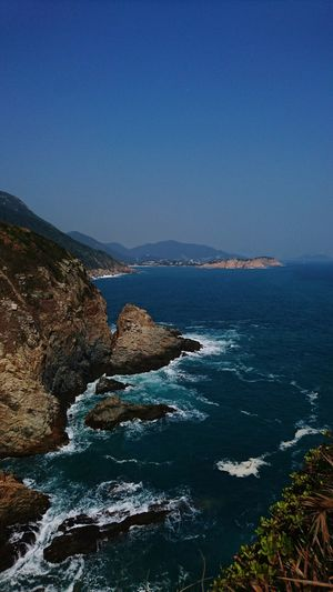 Sea Scenics Beach Horizon Over Water Beauty In Nature Water Wave Sky Outdoors Nature No People Day Hong Kong Cape D'aguilar Wave Beauty In Nature Nature