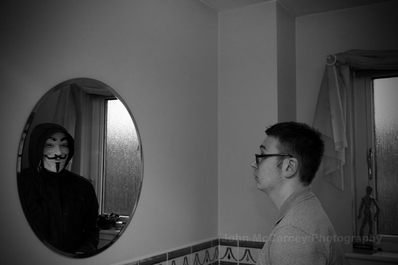Watched Photography Black And White Photography Fantasy Edits Through The Mirror You're Being Watched... Eyem Best Edits