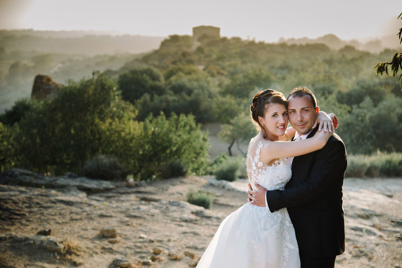 Adult Bonding Bride Celebration Couple - Relationship Emotion Event Love Married Newlywed Outdoors Positive Emotion Standing Togetherness Two People Wedding Wedding Dress Women Young Adult Young Men Young Women