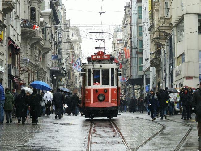 Tramway Tramways Istanbul Turkey Taksimbeyoglu Istiklalcaddesi Istiklalstreet Taksim Taksim Istiklal People Photography Cityscapes My Commute
