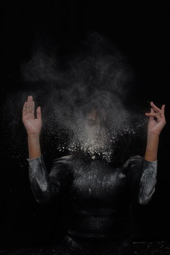 Portrait Powder Black And White Girl Mystery Human Hand Black Background Water Men Close-up The Still Life Photographer - 2018 EyeEm Awards