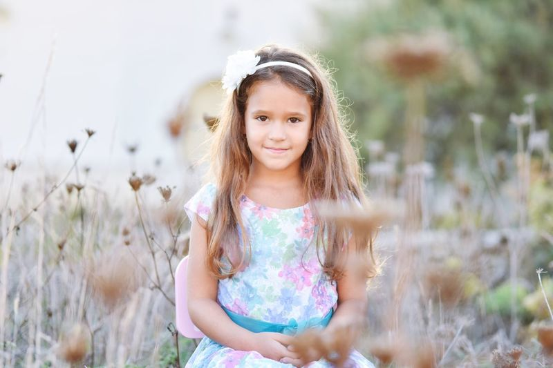 Portrait Looking At Camera Child Childhood One Girl Only Girls Long Hair Waist Up One Person Children Only Hushstudios Angel Kids Kids Being Kids Kidsphotography Floral Standing Nature Smiling Outdoors Front View Real People Day Headband People