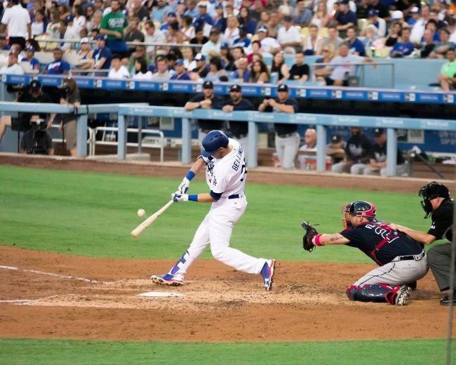 Cody Bellinger hitting a monster homerun Dodgers Dodgers Stadium Homerun Homerunderby LosAngelesDodgers