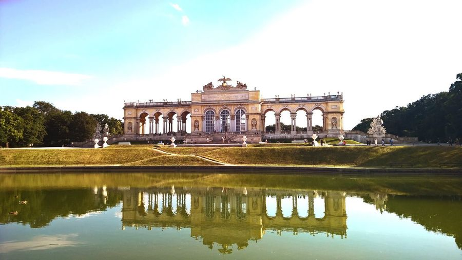 Gloriette Schönnbrunn Vienna Wien Austria Architecture Built Structure Sky Building Exterior Reflection Tree Water Travel Outdoors Day Architectural Column City Cloud - Sky Tourism History Nature Grass No People Travel Destinations Traveling The Architect - 2017 EyeEm Awards The Great Outdoors - 2017 EyeEm Awards Your Ticket To Europe The Week On EyeEm