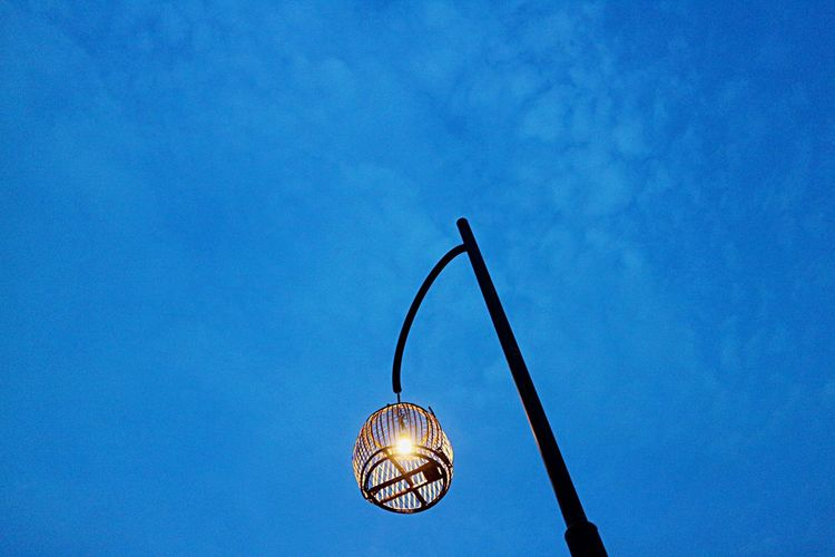 EyeEm Selects Low Angle View Hanging No People Blue Sky Outdoors Illuminated Day Close-up