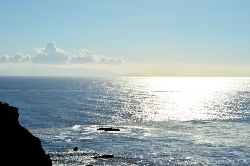 Sea Horizon Over Water Sky Water Tranquility Beauty In Nature Tranquil Scene Scenics Nature Day Beach Outdoors No People Travel Middaysun Palos Verdes, CA 2016 Ocean Point Vincente Travel Destinations Clear Sky