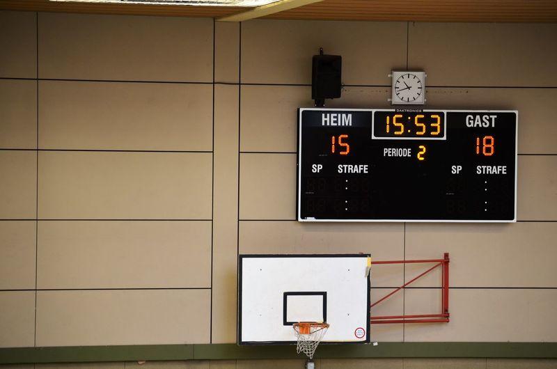 Scoreboard on wall