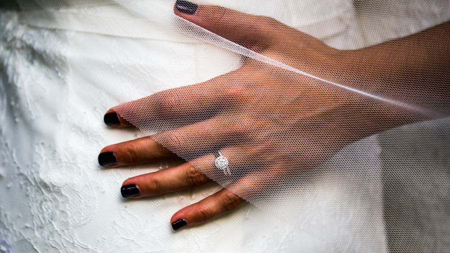Close-up of woman hand