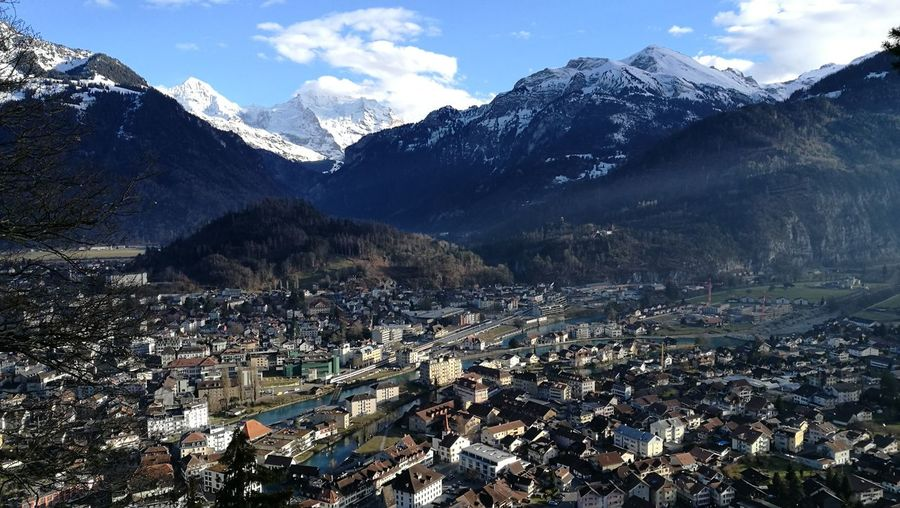 Cityscape cityscapes Cityscape Eiger Moench Jungfrau Interlaken Bernese Oberland Switzerland Schibeflue Eye4photography  Landscape Snowcapped Mountain Valley Mountain Range Natural Landmark