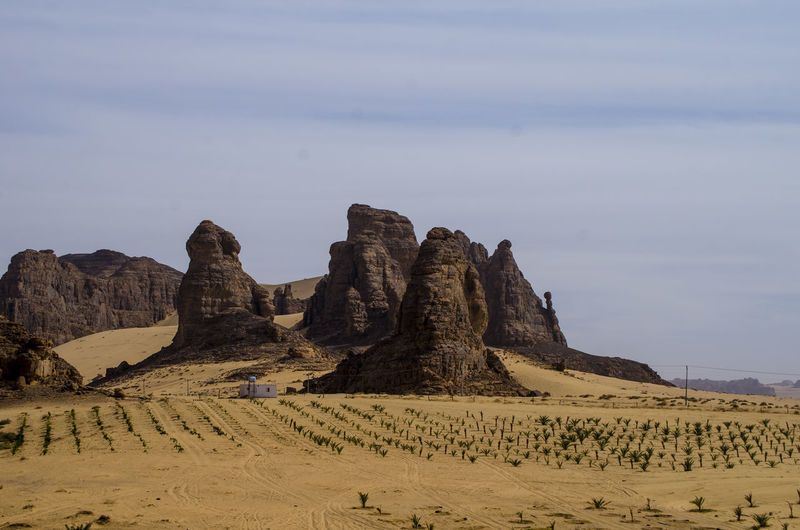 Al Ula Rock Formations Sky Scenics - Nature Tranquil Scene Beauty In Nature Tranquility Land Desert Landscape Rock Non-urban Scene Environment Rock Formation Nature Sand Physical Geography Remote No People Rock - Object Idyllic Geology Arid Climate Climate Formation Eroded Stack Rock