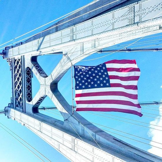 Where Dutchess and Ulster counties meet. Hudsonvalley Poughkeepsie Bridge Fdr MidHudson NY Newyork Steel Flag Blue Sky Latergram