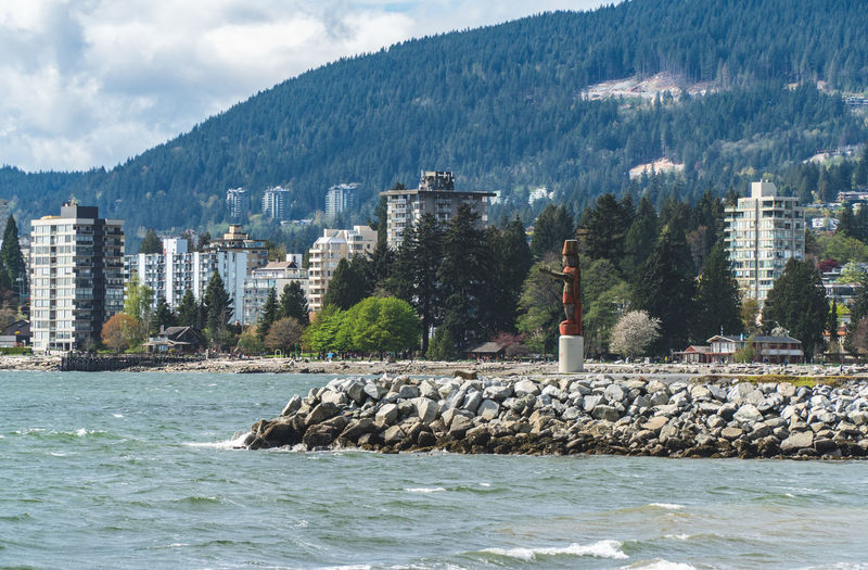 Travel Destinations Travel Travelling Traveling British Columbia Outdoors Built Structure Building Exterior Architecture Water Mountain Building Nature Sea Waterfront Tree Scenics - Nature Tower Day No People Beauty In Nature Lighthouse Rock Guidance Plant Mountain Range