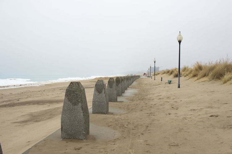 Beachfront View Beach Coastline Day Foggy Morning Ice Indiana Lake Michigan Lakefront Lakefront Park Michigan City, Indiana Misty Nature No People Outdoors Sand Sand Dune Scenics Snow ❄ Tourism Travel Travel Destinations Vacations Washington Park Water Winter