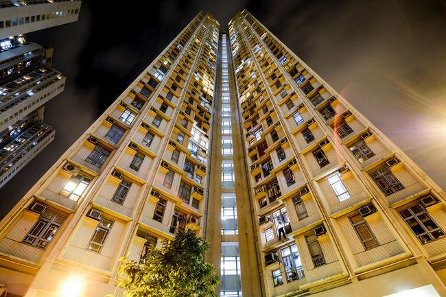 Skyscaper in Shatin district, Hong Kong, China. 40 floors. Architecture Artistic Built Structure High Building HongKong Longexposure Night Nightphotography No People Shatin Skyscraper Urban Urban Living Neighborhood Map The Architect - 2017 EyeEm Awards The Architect - 2017 EyeEm Awards