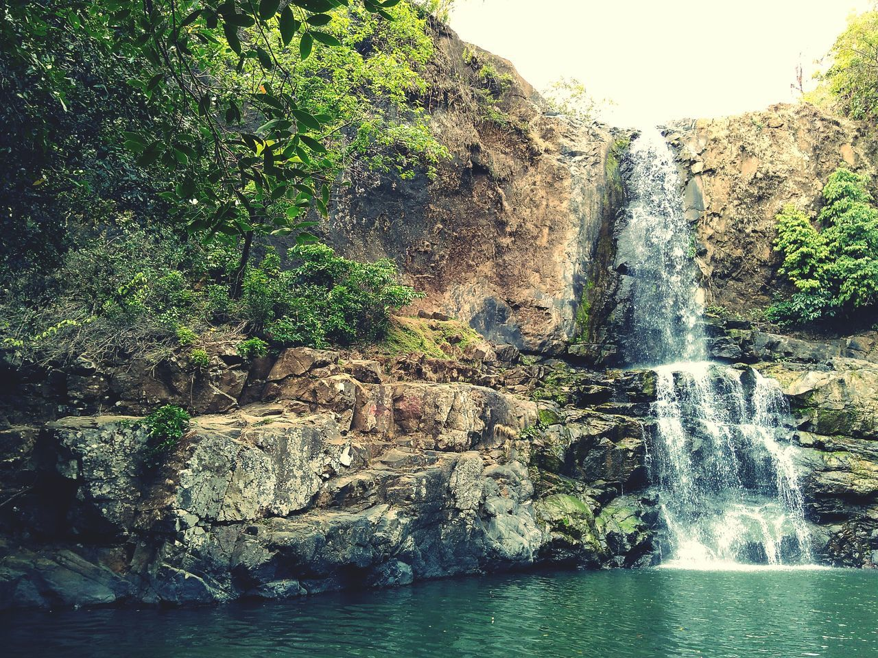 waterfall, nature, water, beauty in nature, cliff, no people, scenics, outdoors, day