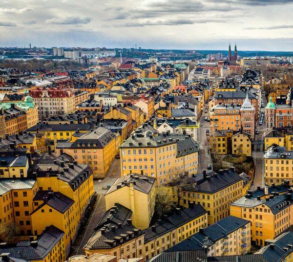 Aerial photo of stockholm sweden