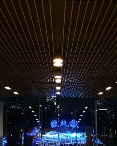 Illuminated lighting equipment at night