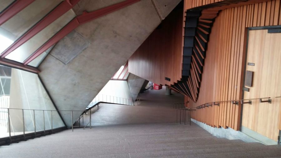 Architecture Built Structure Indoors  Day Beautiful Sydneyoperahouse Sydney Opera House Sydney, Australia Woodenpanelling Wood Steps Concrete Interior Design Acoustics