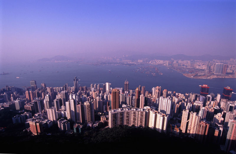 hong kong - view from the peak Architecture Blocks Blue Buildings China City City City Life Cityscape Commerce Harbour High Angle View High-Rise Highrise Hirise Hong Kong HongKong Sky Skyscraper Skyscrapers Tower Towers Urban Skyline Water Pmg_hok