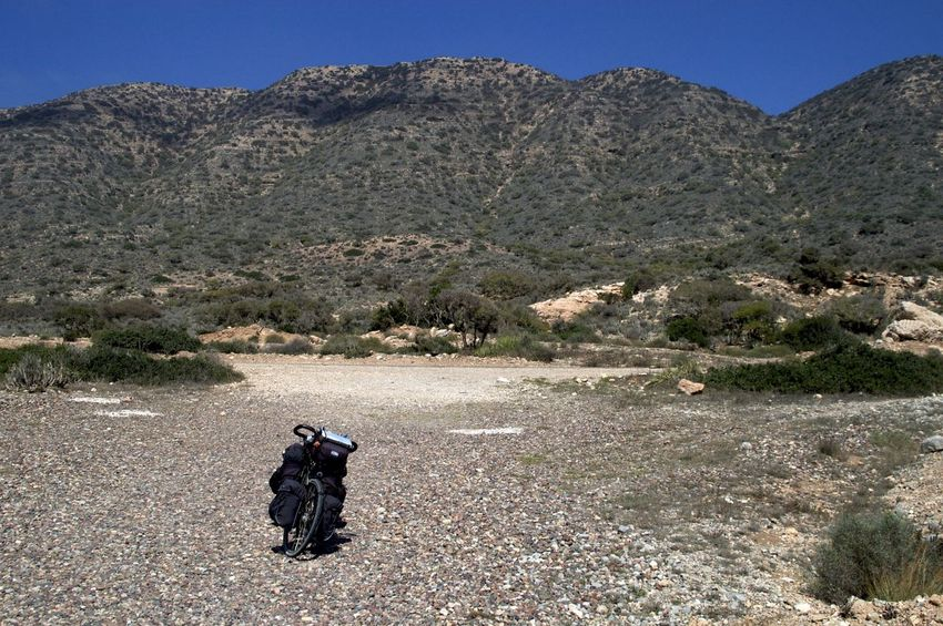 On the Road near Mirleft in Morocco. Bicycle Trip Morocco MoroccoTrip Adventure Arid Climate Bicycle Landscape Mirleft Mountain Outdoors