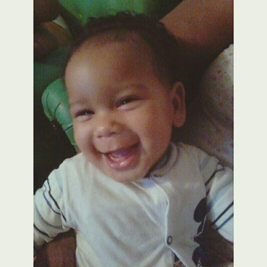 Acordar e ver um sorriso desse nao tem preço .-. Bryan ♡ Sobrinho Afilhado Baby ❤ Bomdia ... ;)