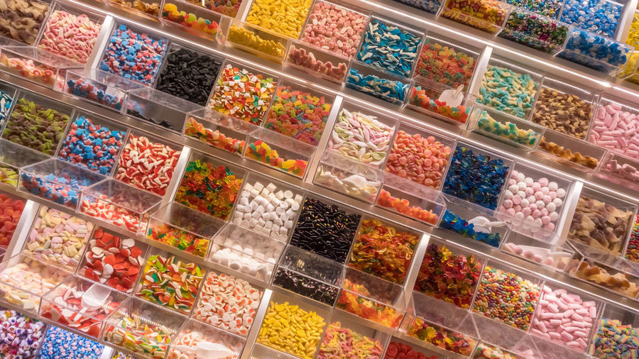 16:9 Assortment Background Box Candie Candies Candy Chocolate Choice Cola Color Colorful Confectionery Container Delicious Display Flavor Food Gummy Jelly Lots Many Market Mix Multi Pick Pleasure Plexiglass Selection Self Self-service Service Shop Side Snack Stall Store Sugar Sweet Tasty Treat Typical Variety Various View