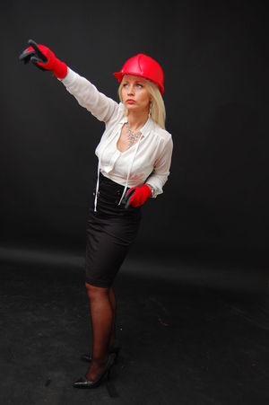 Business Women with working helmet Boss Bossy Buisness Look Construction Construction Worker Female Model Female Portraits Helmet Red Helmet Women Working WomeninBusiness