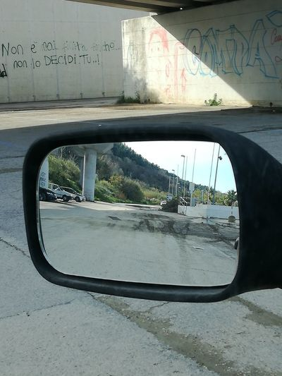 Driver's reflections collection Italy🇮🇹 Lillireality Car Transportation Reflection Road Day No People Outdoors Side-view Mirror Car Reflections Driver's Reflections Collection From My Point Of View The Purist (no Edit, No Filter) Mobilephotography No Filter No Edit Daylight Photography Urbanphotography Shadows Close-up