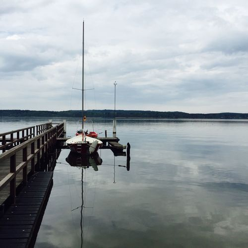 See Wasser Ruhe Idylle Boot Stille Entspannung leer