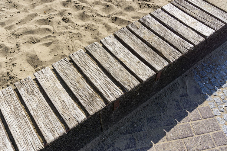 High Angle View of Wooden Walkway on Playground No People Day Pattern Outdoors Berlin Germany 🇩🇪 Deutschland Color Image Horizontal High Angle View Wood - Material Nature Sunlight Shadow Sand Architecture Built Structure Striped Boardwalk Wood Walkway Playground Brown Plank Close-up
