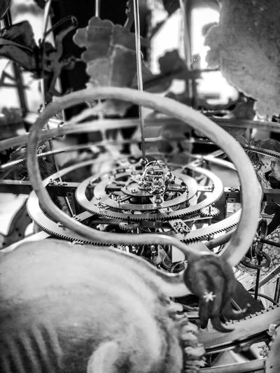 Clock of heaven Planets 16th Century Design Blackandwhite Clock Time Close-up Gear Clockworks Machine Part Machine Machinery