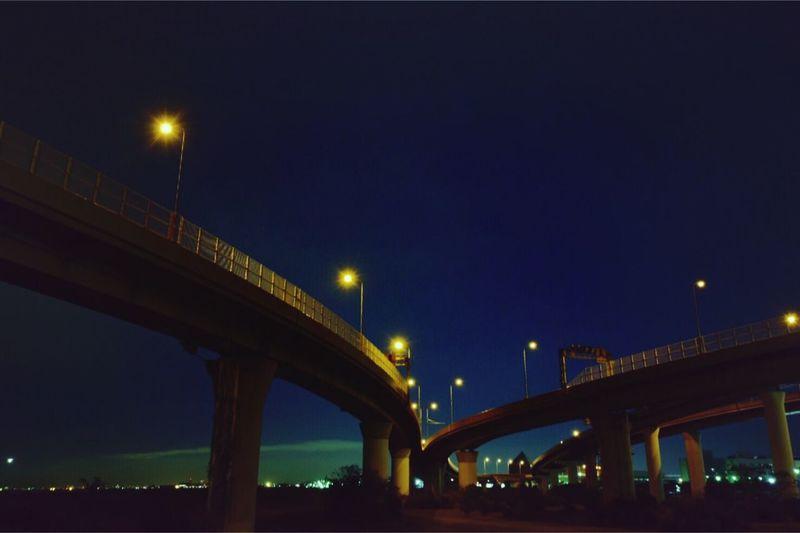 ジャンクション 夜景 長時間露光 分岐 高速