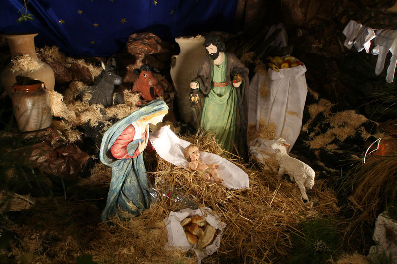 Nativity scene, Cana-Church of the Miracle Joseph Adoration Baby Bethlehem Birth Caña Christmas Church Creche Faith Holy Israel Jesus Kings Magi Miracle Nativity Scene Peace Religion Saint Shepherds Spiritual Virgin Mary Wise Man