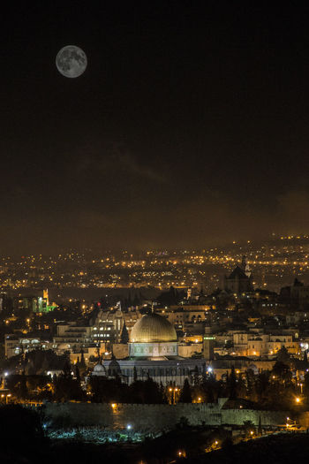 ALAQSA Alaqsamosque Architecture Astronomy Bridge - Man Made Structure Built Structure City Full Moon Illuminated Jerusalem Moon Multiple Exposures Nature Night No People Outdoors Sky Star - Space Travel Destinations