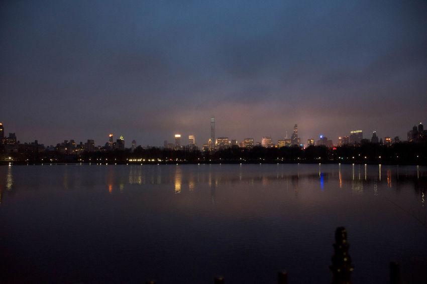 Building Exterior City Cityscape Illuminated Lake Light Reflection Shadow Water