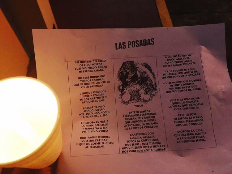 Posadas Ligth And Shadows Cristmas Veracruz, México Cantos Navideños Text