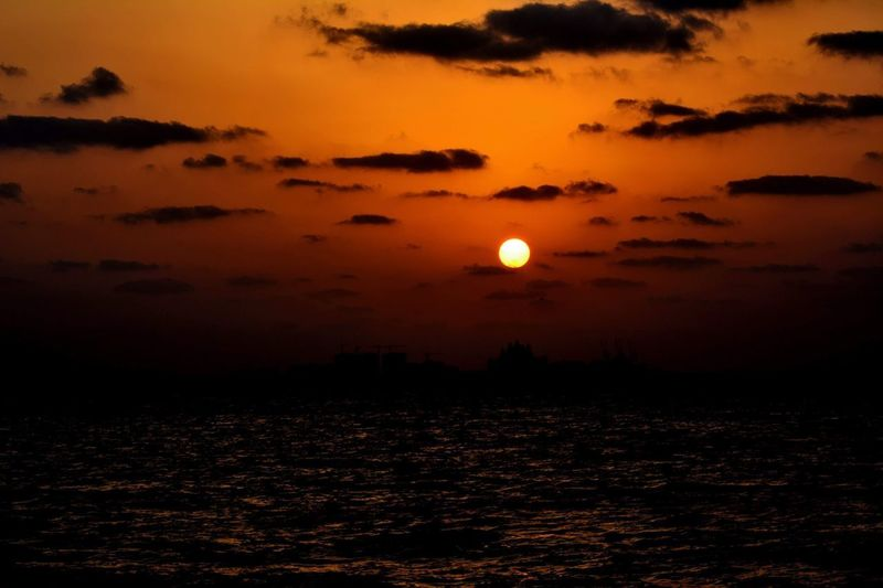 Sunset on the beach Sky Beauty In Nature Scenics - Nature Sunset Tranquility Tranquil Scene Cloud - Sky