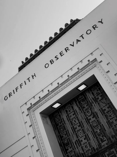 Losangeles Grififth Observatory Low Angle View Architecture Communication Built Structure No People Day Building Exterior Outdoors California Dreamin Go Higher