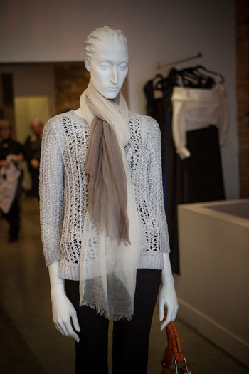 View of mannequin at store