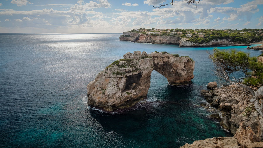 Mallorca Mallorca (Spain) Beauty In Nature Cliff Day Horizon Over Water Nature No People Outdoors Physical Geography Rock - Object Rock Formation Scenics Sea Sky Tranquil Scene Tranquility Travel Destinations Water