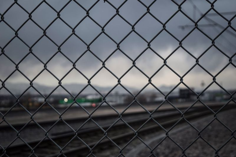 EyeEm Selects Chainlink Fence Focus On Foreground Metal Protection No People Safety Outdoors Day Close-up Sky Nature Alameda Station Denver Colorado