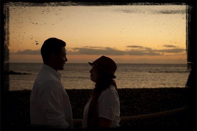 Wedding, Tenerife south. Prewedding Sunset Silhouettes Tenerife Couple