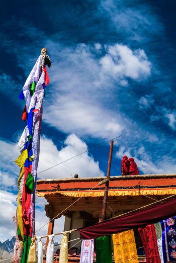 Karsha or Kursha Gompa at Zanskar valley Folk Gompa India Jammu And Kashmir Karsha Kursha Ladakh Lama Leh Monastery Outdoors Padua Prayer Flags  Sky Spirituality Travel Zanskar