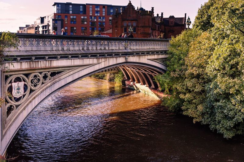 Argyle Street Bridge crossing The Kelvin River in Glasgow, Scotland Architecture Water Bridge - Man Made Structure Connection Transportation City River Tree Day Glasgow  Human Representation Bridges Kelvinbridge Kelvingrove Park